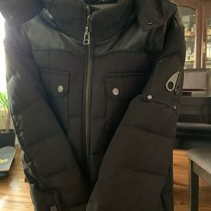 Leather moose knuckle jacket men's size small
